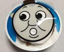 きかんしゃトーマス チョコカスタードケーキ