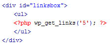 Customizing your wordpress links template page