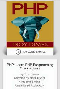 PHP Programming - by Troy Dimes - Narrated by Mark Tilyard