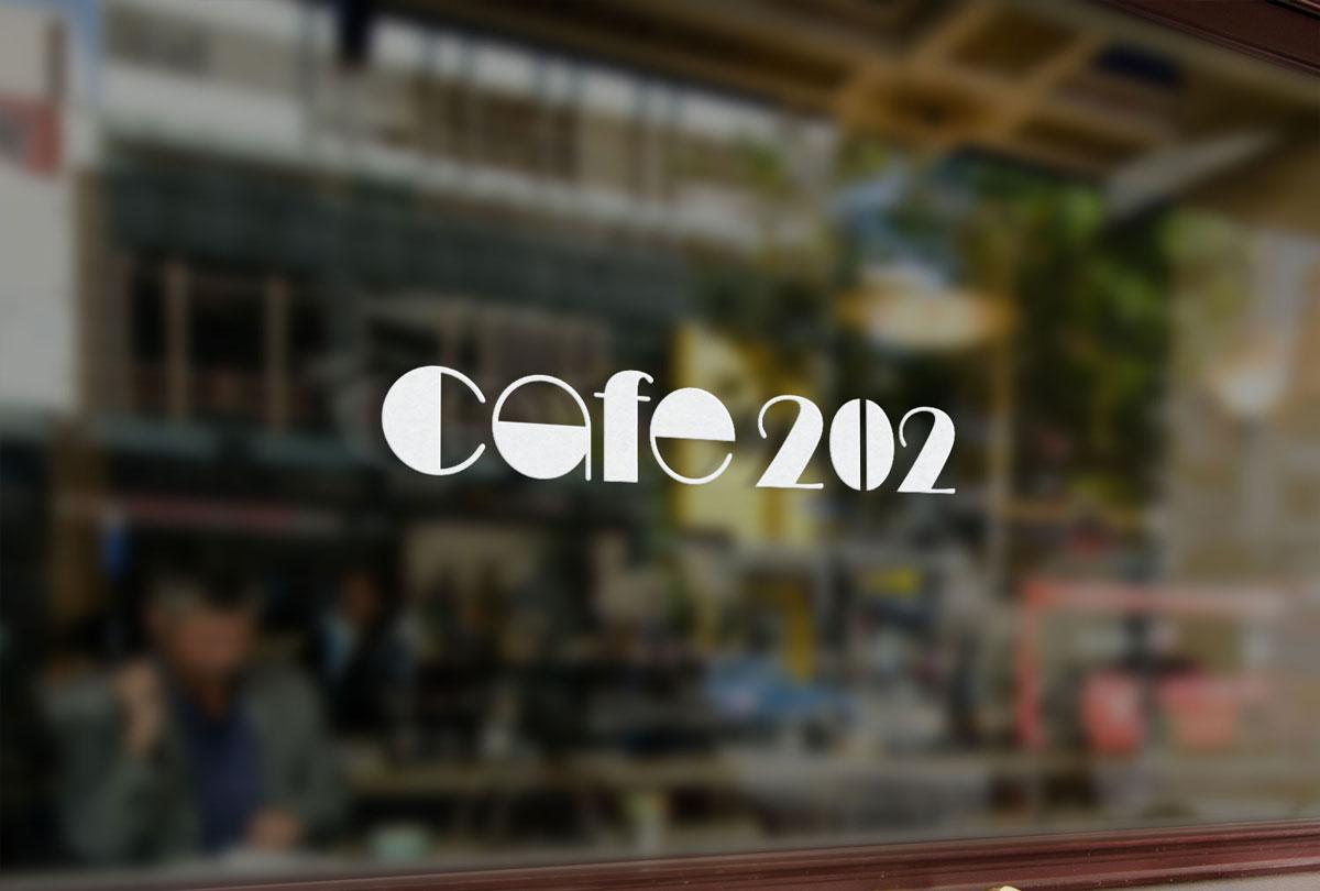 2018年ランサーズに応募したけど落選したロゴデザインのcafe-202モックアップ