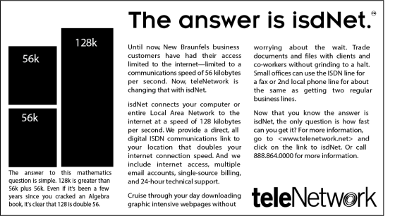Telecom branding internet product marketing