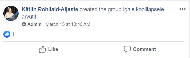 Facebooki grupi loomine