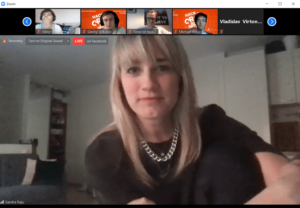 LIVE in ZOOM – Sandra Raju