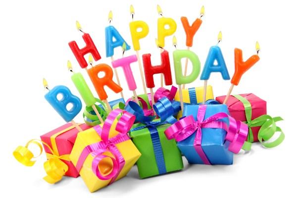 Happy birthday - birthday candles and birthday gifts - Chuck's birthday - trip to Thailand