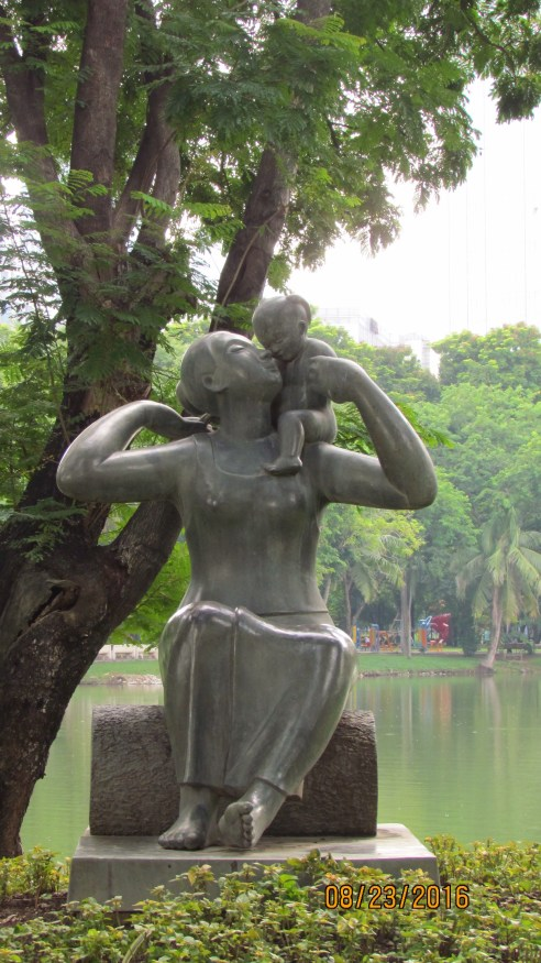 A Mother's Love - sculpture - Lumpini Park - Bangkok
