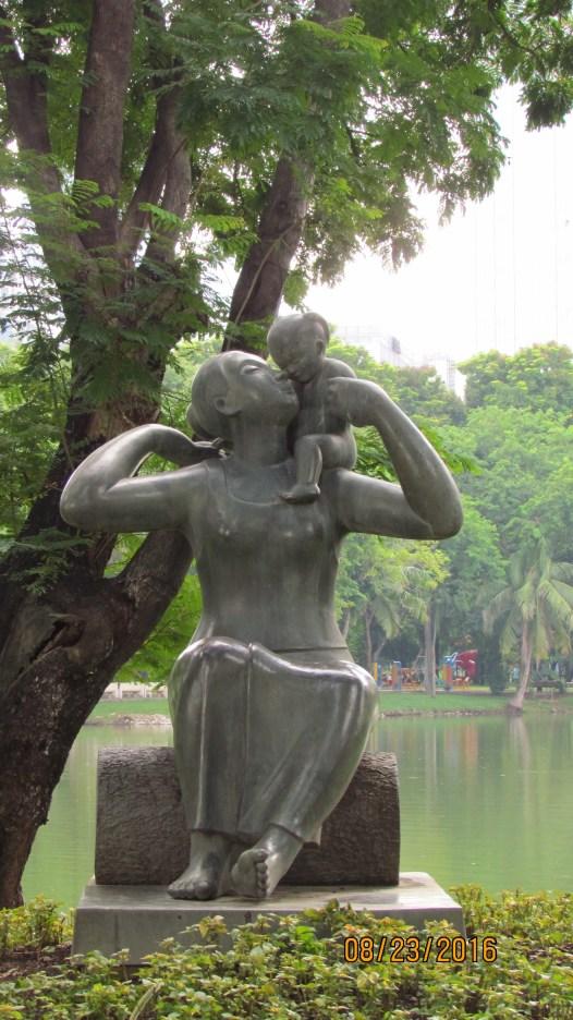A Mother's Love - sculpture - Lumpini Park - Bangkok