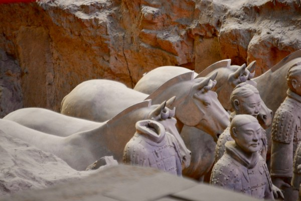 partial restorations of the terracotta warriors in China
