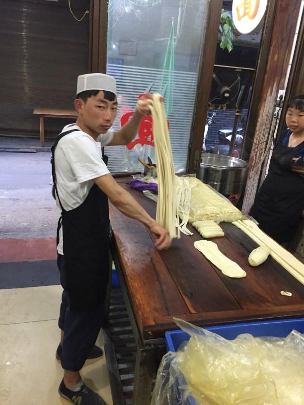 Lost Plate Food Tours - Lost Plate Food Tours Xian - Xian- Xian China - China - street food - Chinese food - Xian Muslim Quarter - Biang Biang Noodles - hand stretched noodles