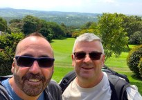 Aberdare County Club - Aberdare Highlands - Chuk and Mark at lunch