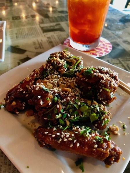 Hawkers Asian Street Food - St Petersburg restaurants - Street Food - St Pete food scene - Food Blogger - Travel Blogger - Korean Twice Fried Wings - Thai Iced Tea