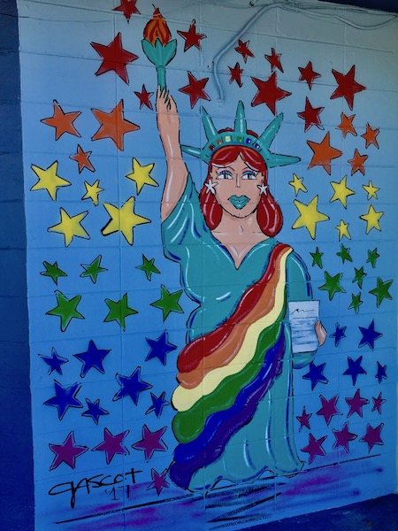 Latin Pop Art- Gascot - Statue of Liberty - St Pete Murals