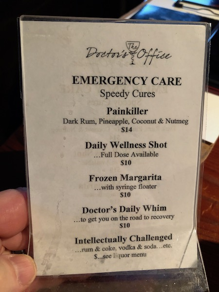 specialty cocktails - craft cocktails- the doctors office- Holmes Beach - Anna Maria island