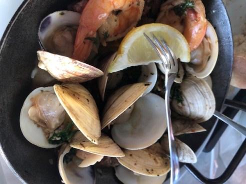 Anna Maria Island - The Sandbar Restaurant - Gulf Shrimp - Tampa Bay Clams - Wild Boar Sausage - Florida seafood