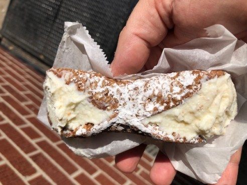 Mark and Chuck's Adventures – Travel bloggers – Food bloggers- Philadelphia - Isgro's Italian Bakery - Italian pastry - cannoli