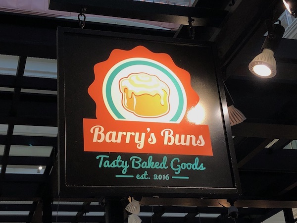 The Bourse - Food Hall - Philadelphia food scene - Barry's Buns - Philadelphia bakery - sticky buns - Pumpkin cinnamon buns
