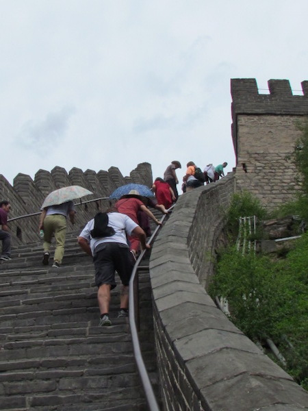Mark and Chuck's Adventures - Gate 1 Travel - climbing the Great Wall of China - China trip - Beijing China - Joyongguan Great Wall