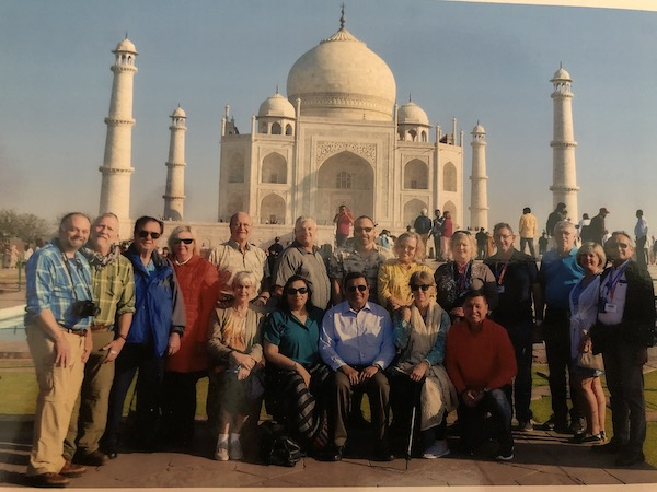 Gate 1 Travel = Gate 1 Travel India - Gate 1 tour group at Taj Mahal - Tour Manager Alok Tiwari - Taj Mahal Mark and Chuck in India - COVID 19 - Traveling during COVID 19