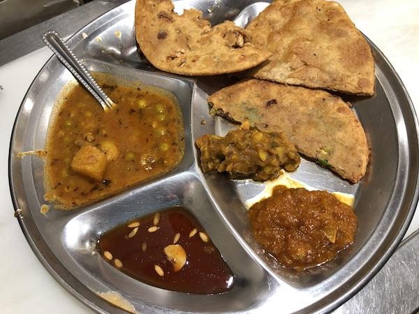 stuffed paratha - Indian Street Food - Delhi Food Walks - street food tours - Mark and Chuck's Adventures
