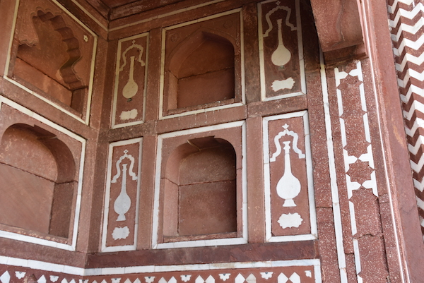 Agra – Baby Taj - Tomb of I'timād-ud-Daulah – India travel - Gate 1 Travel - Mark and Chuck's Adventures - red sandstone with white marble inlay
