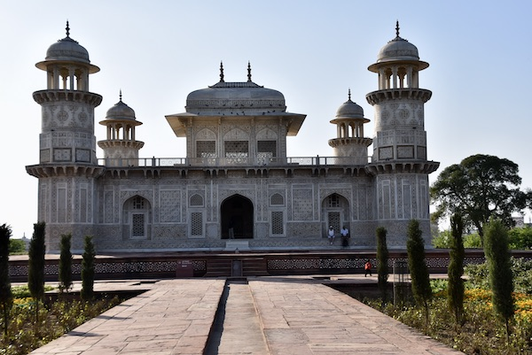 Agra – Baby Taj - Tomb of I'timād-ud-Daulah – India travel - Gate 1 Travel - Mark and Chuck's Adventures - white marble tomb - white marble