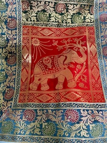 cloth - Indian handwoven cloth - table runner- Jaipur - Jaipur bazaar - shopping in Jaipur - Mark and Chuck's Adventures - India travel