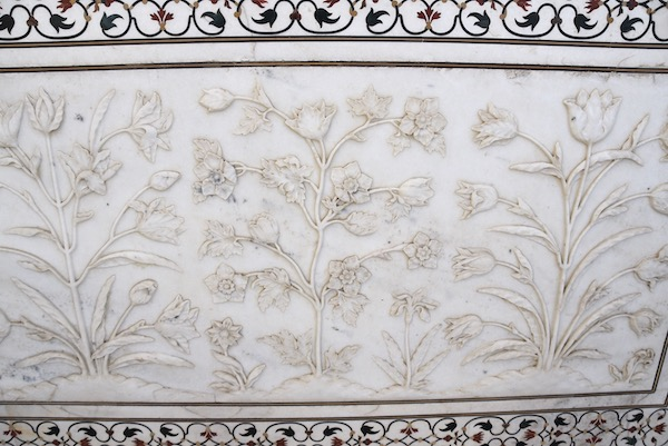 Mark and Chuck's Adventures - India trip - Taj Mahal - marble carving - marble inlay - Agra
