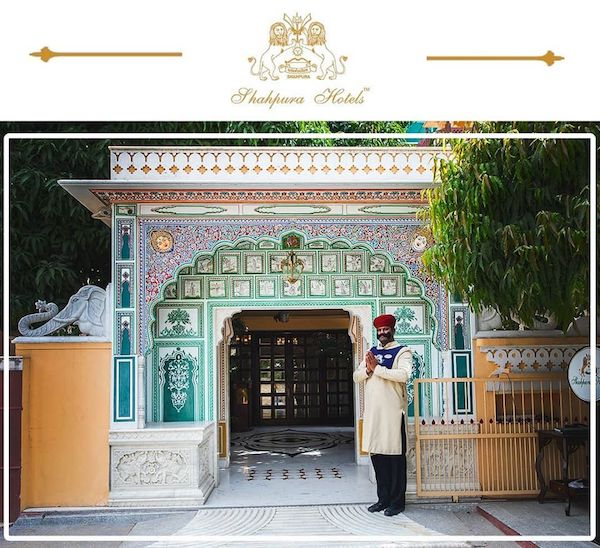 Shahpura House - entrance to Shahpura house hotel - Jaipur