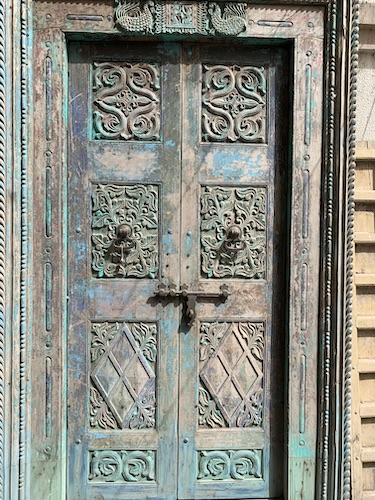 India Travel Blog – Jaipur Handicrafts – Jaipur India - India - hand woven carpet - doors - hand carved wooden doors