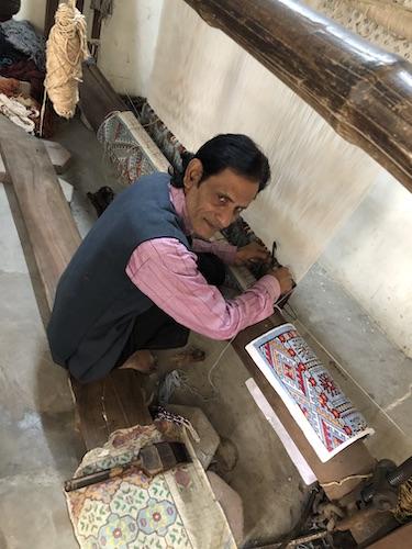 India Travel Blog – Jaipur Handicrafts – Jaipur India - India - hand woven carpet - local artisan weaving carpet