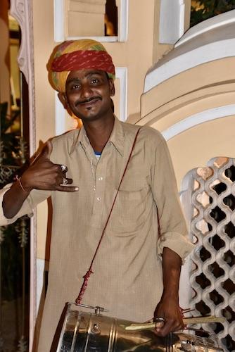 drummer- Rajasthani drummer- cultural performance at Shahpura House