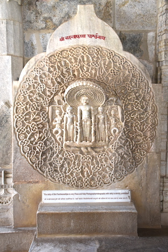 carved idol of Parshvanatha made out of a single marble slab