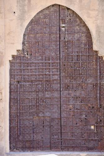 door- ornate metal door - -Mehrangarh Fort – Jodhpur – Rajasthan – India – India travel blog – traveling in India