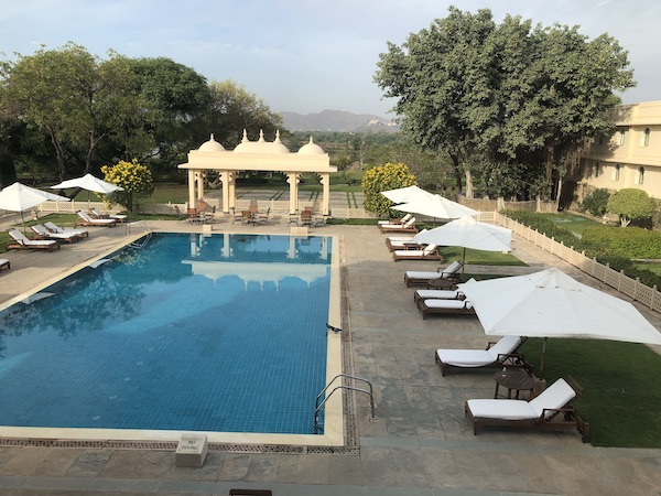 swimming pool of the Trident Udaipur