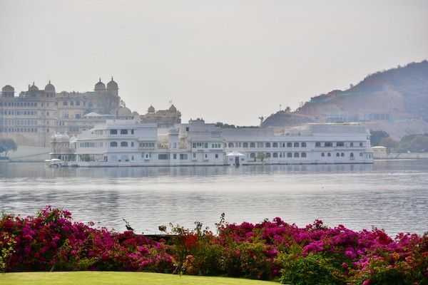 View of the Udaipur City Palace across Lake Pichola