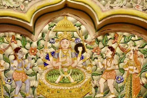 Sheesh Mahal - Hall of Mirrors - Hand painted murals - Mehrangarh Fort - Jodhpur - India