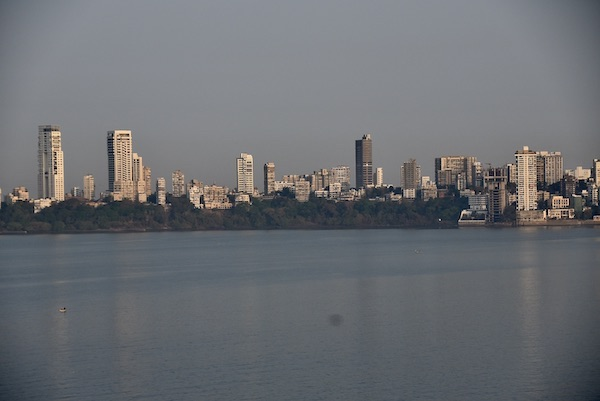 a clear view across Mumbai's back bay from Mumbai's Trident Nariman Point Hotel