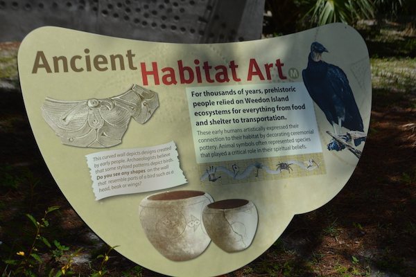 educational signs at Weedon Island describing the ancient history