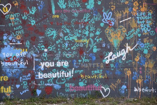 you are beautiful mural in south Saint Petersburg Florida