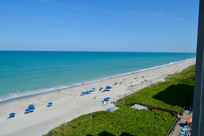 views of the Atlantic Ocean from the Doubletree suites by Hilton Melbourne Beach Oceanfront