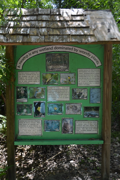 educational signs at Boyd Hill Nature Preserve describe the local eco systems