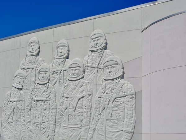 Mural of NASA on the Heroes and Legends building