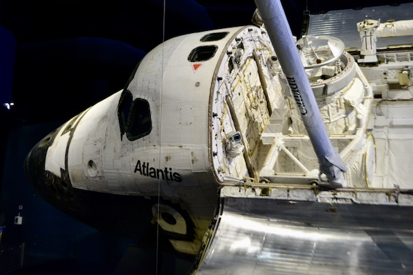nose of the space shuttle Atlantis