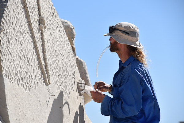 Sand sculptor at Sanding Ovations 2020 in Treasure Island Florida