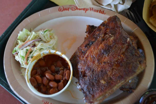 barbecue rib platter from Flame Tree Barbecue at Disney's Animal Kingdom