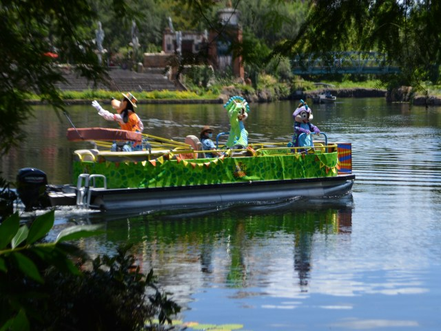 a fabulous flotilla with Goofy, Chip and Dale at Disney's Animal Kingdom