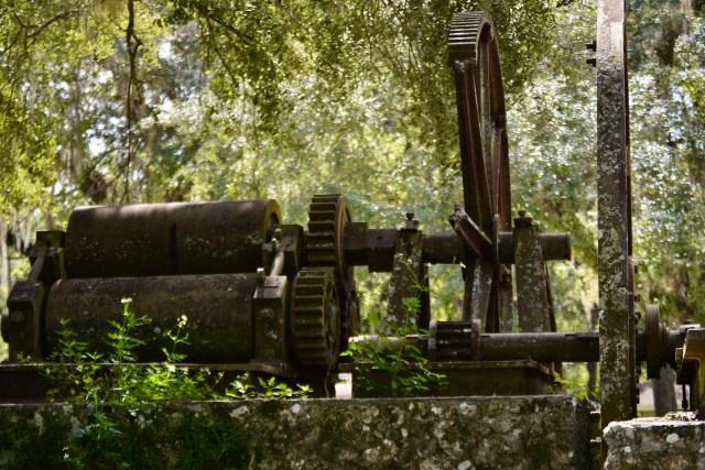 Sugar cane press at the Yulee Sugar Mill Ruins near Homosassa Florida