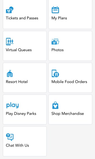 the Disney app, an essential tool for mobile food orders
