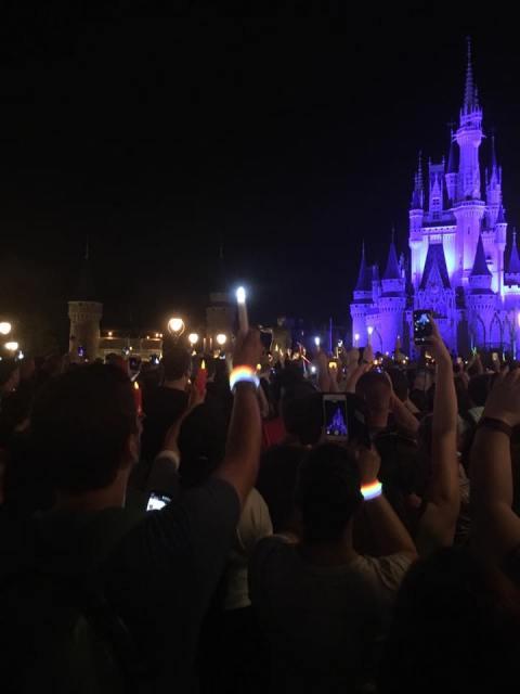 A Good Night Kiss at Walt Disney World's Magic Kingdom in honor of the victims of PULSE