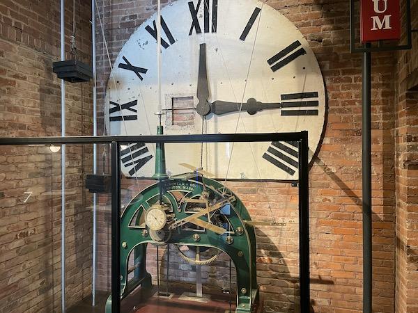 clock mechanism in the El Reloj cigar factory in Tampa Florida