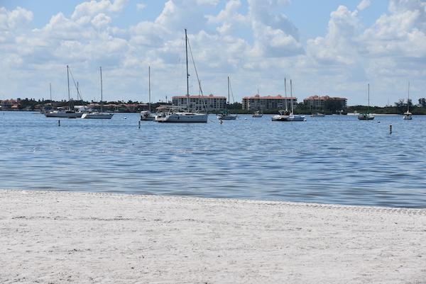 white sand beaches along the Gulfport Florida waterfront
